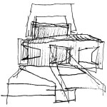 Sketch of Gehry House Residence in Santa Monica