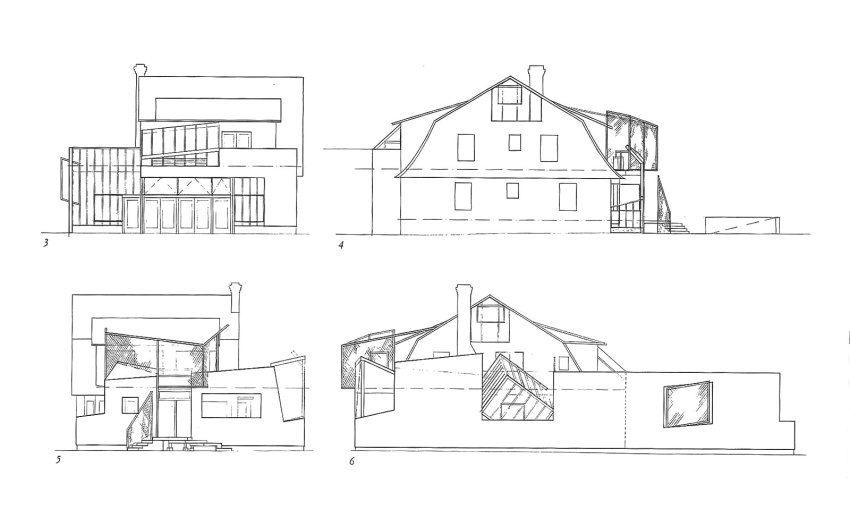 Elevations of the house