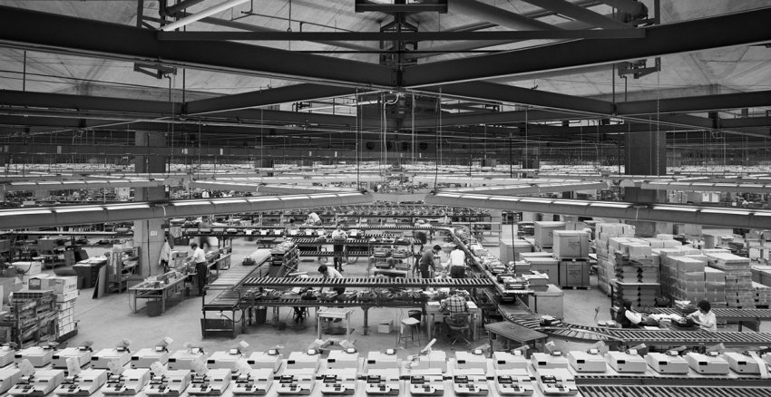 Interior Olivetti Underwood Factory in Pennsylvania by Louis Kahn