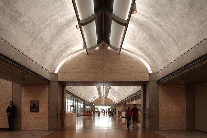 Light inside the Kimbell Museum by Louis Kahn