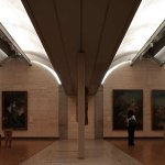 Travertine Walls in the Kimbell Museum