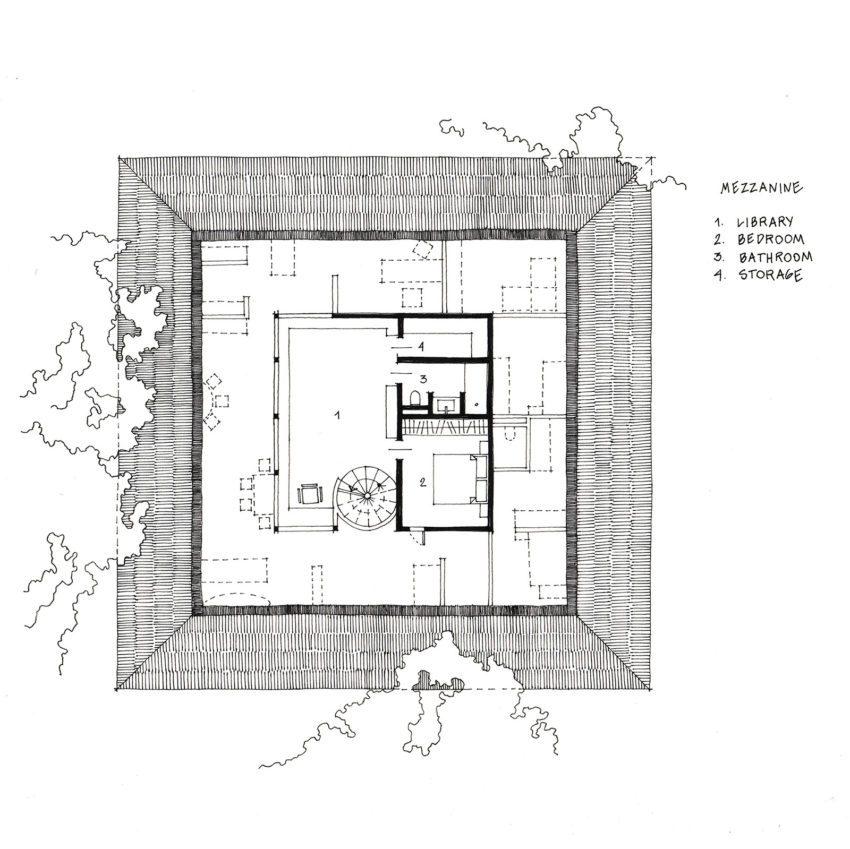 Mezzanine Floor Plan Casa Raposa by Form Architects