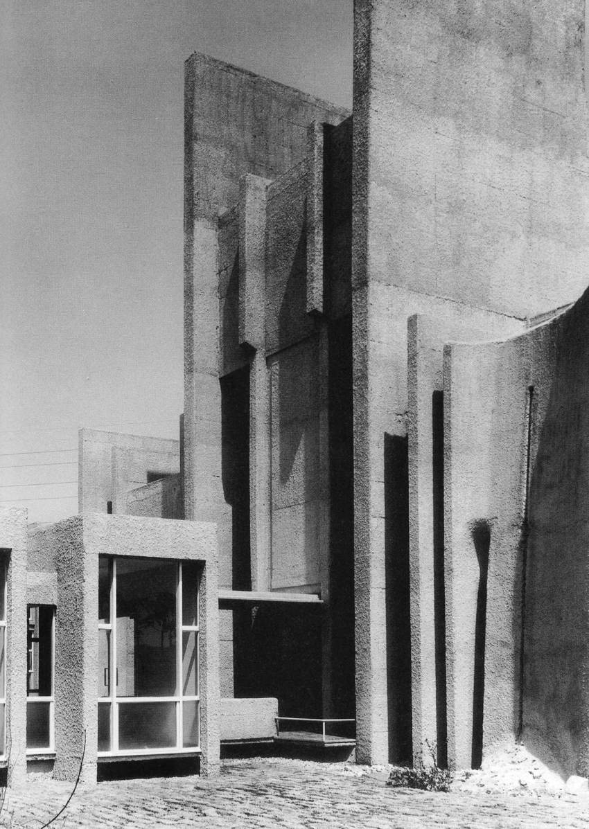 Facade materiality - Japan Lutheran Theological Seminary by Togo Murano