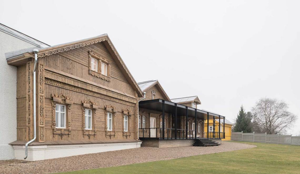 Front view elevation - Suzdal Estate House / FORM Bureau