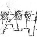 Sketch of the Universita Luigi Bocconi / Grafton Architects