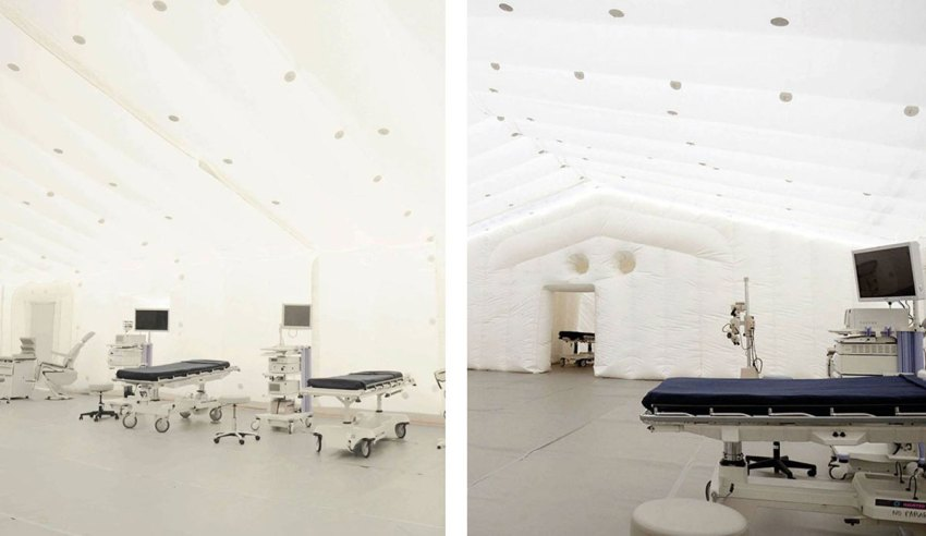 Inflatable Emergency Hospitals / TecnoDimension
