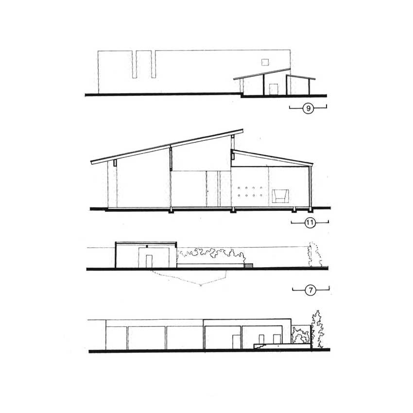 Sections - Los Clubes: San Cristobal Stable & House / Luis Barragan