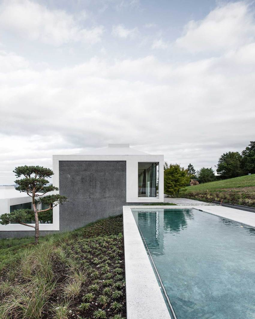 Pool - Courtyard Houses in Zumikon / Think Architecture