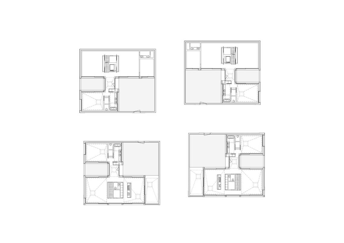 Floor Plans - Courtyard Houses in Zumikon / Think Architecture