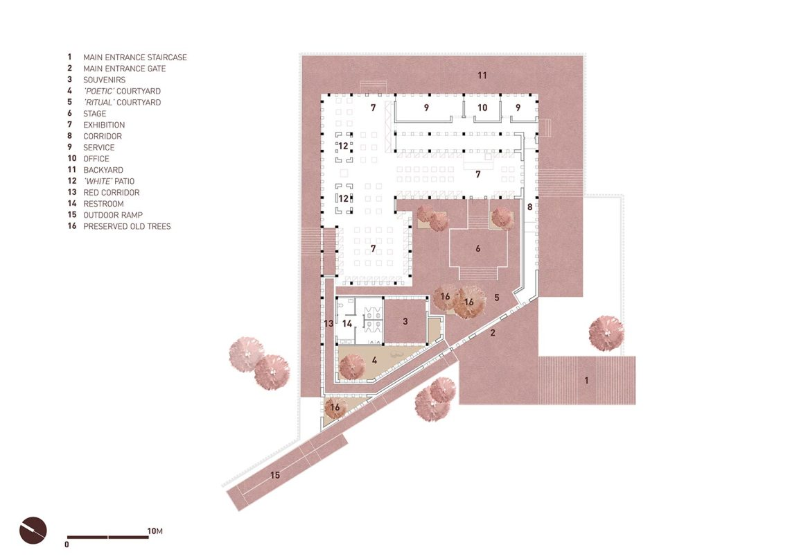 Floor Plan - Chishui Cemetery Memorial Hall / West-line Studio