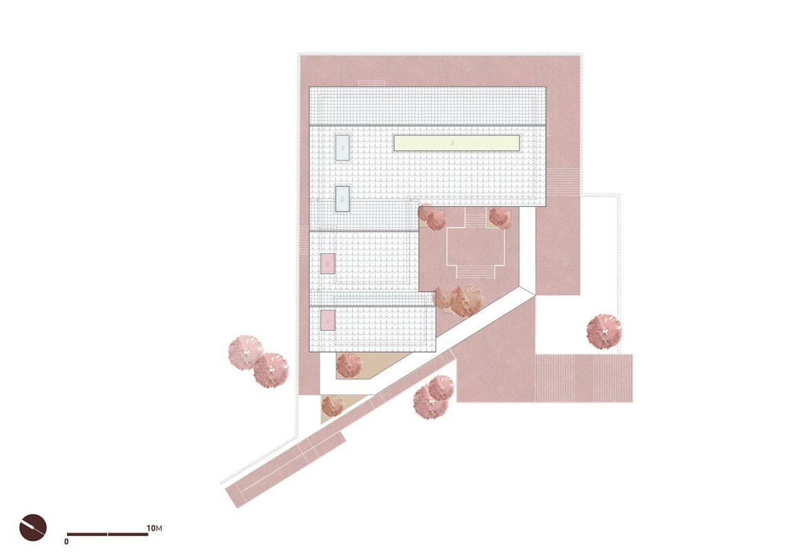 Roof Plan - Chishui Cemetery Memorial Hall / West-line Studio
