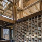 Sharing bookshelf - Party and Public Service Center of Yuanheguan Village / LUO Studio