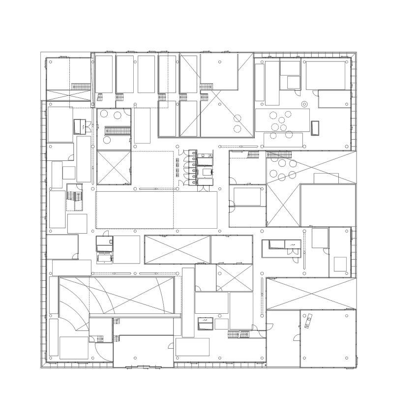 Floor Plan - Villa VPRO Headquarters / MVRDV