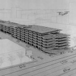 Axonometric View - Temple Street Parking Garage / Paul Rudolph