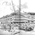 Sketch - Temple Street Parking Garage / Paul Rudolph