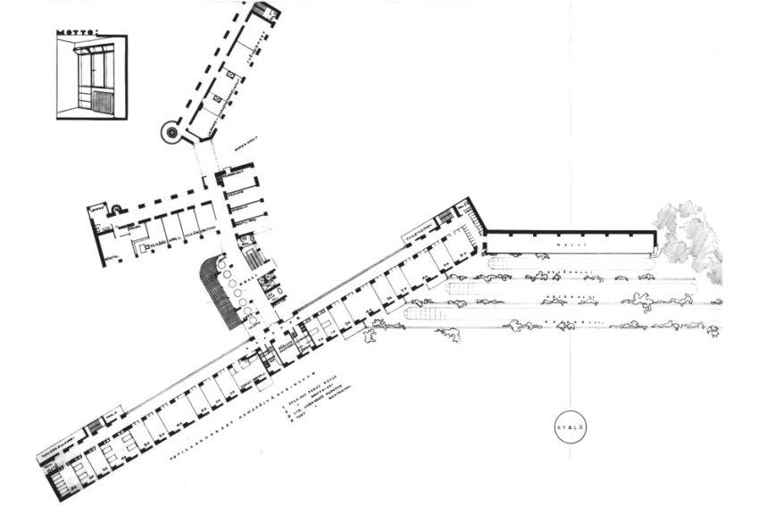 Floor Plan - Paimio Sanatorium / Alvar Aalto
