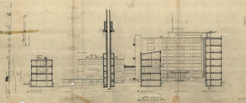 Section - Paimio Sanatorium / Alvar Aalto