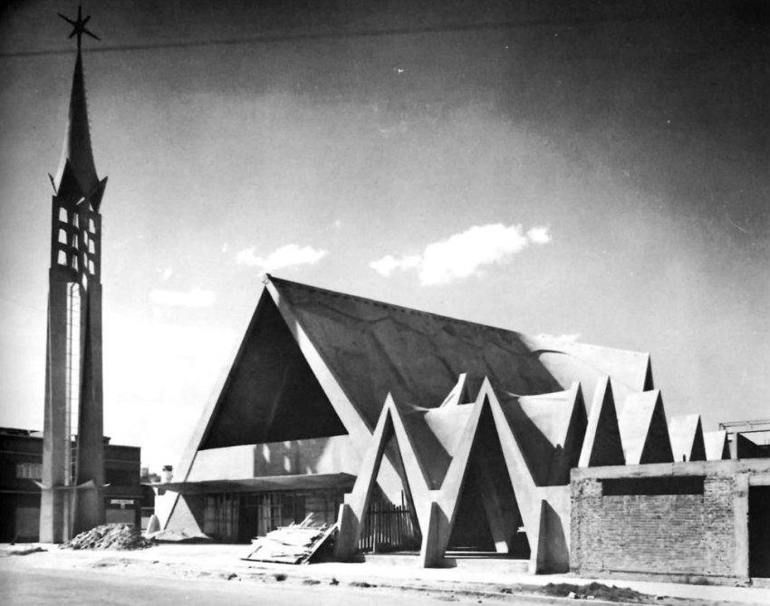 Felix Candela Church - Construction Photograph