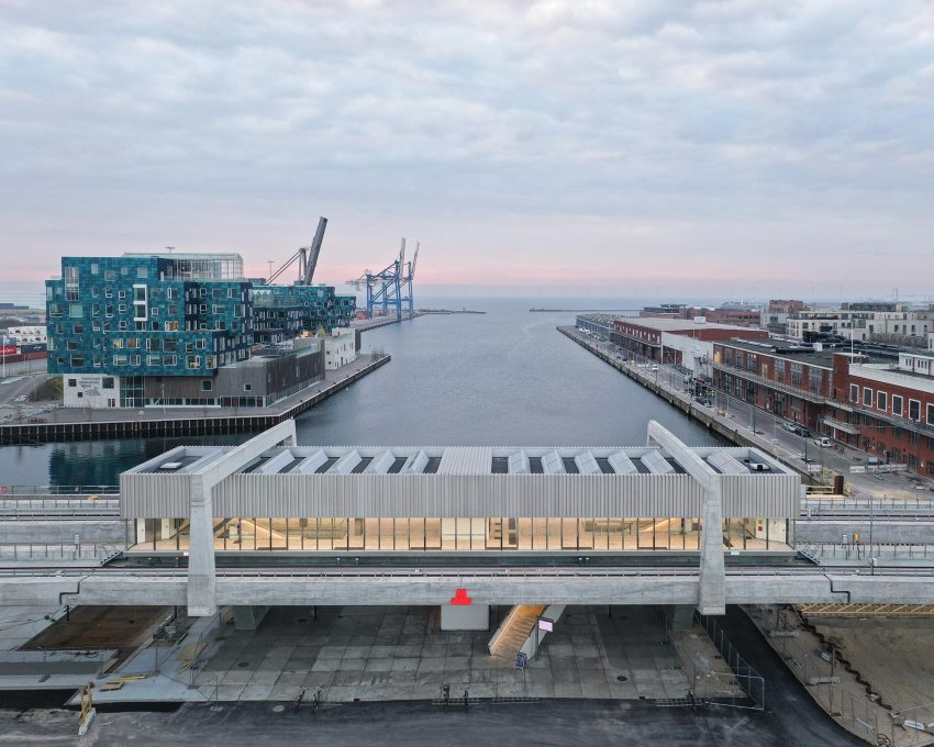 Aerial View - Orientkaj & Nordhavn Metro Stations in Copenhagen / Cobe & Arup