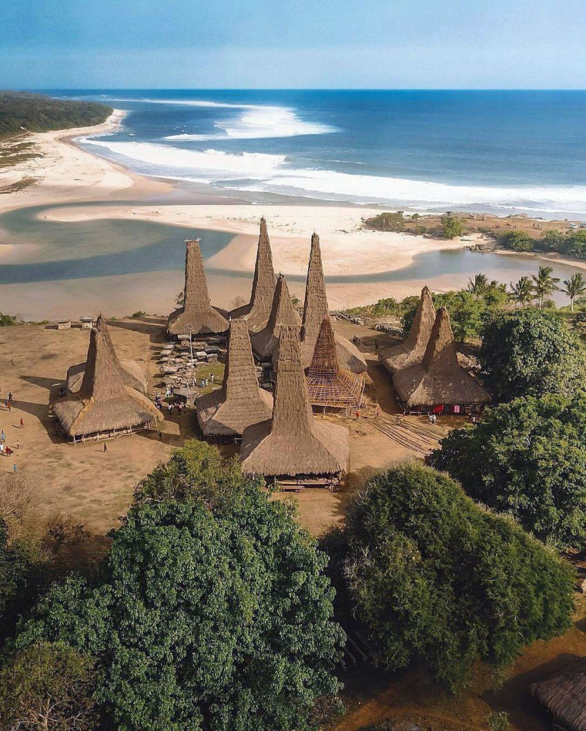 Aerial Photograph - Sumbanese Traditional Houses