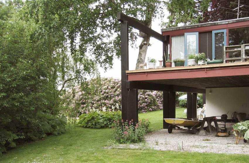 Terrace of the House - Middelboe House in Holte / Jørn Utzon