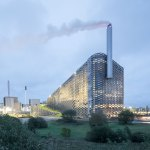 Exterior Night View of the CopenHill Waste-to-Energy Plant & Sport Facility / BIG-by-Laurian-Ghinitoiu