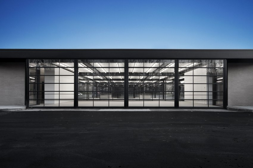 Entrance - Mies van der Rohe Gas Station Conversion on Nuns Island / FABG Architects