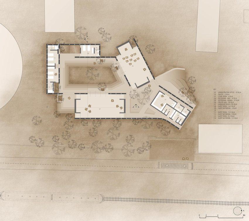 Jetavan Center Floor Plan | © Sameep Padora and Associates