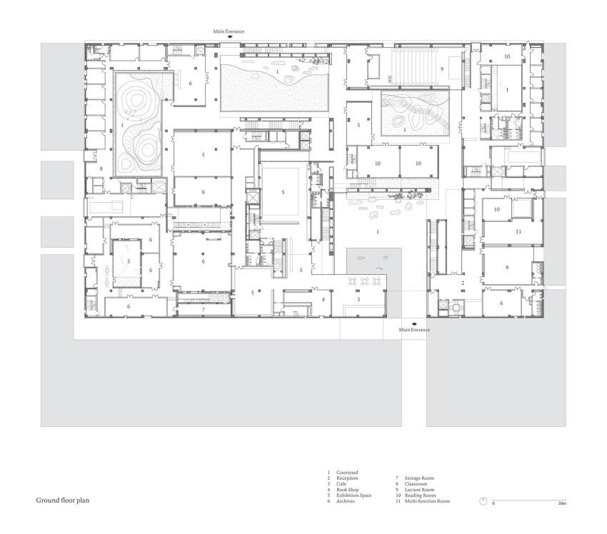 Floor Plan - Shou County Culture & Art Center / Studio Zhu-Pei