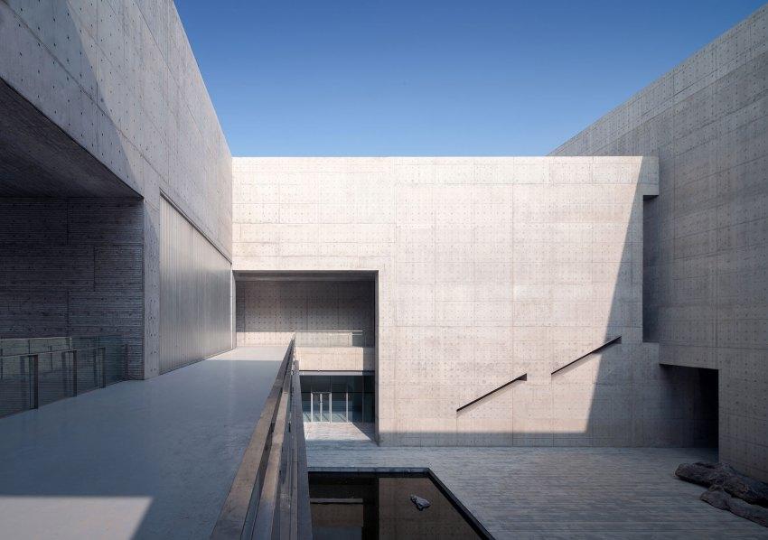 Courtyard - Shou County Culture & Art Center / Studio Zhu-Pei