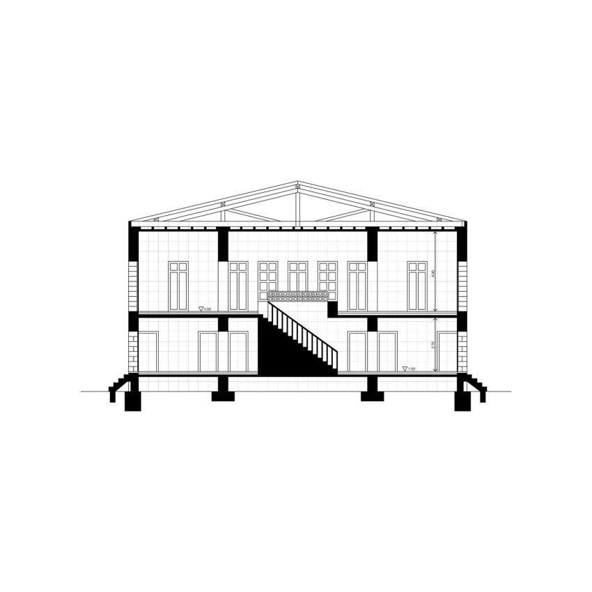 Section - Floor Plans - Ungers House II: Villa Glashütte / Oswald Mathias Ungers