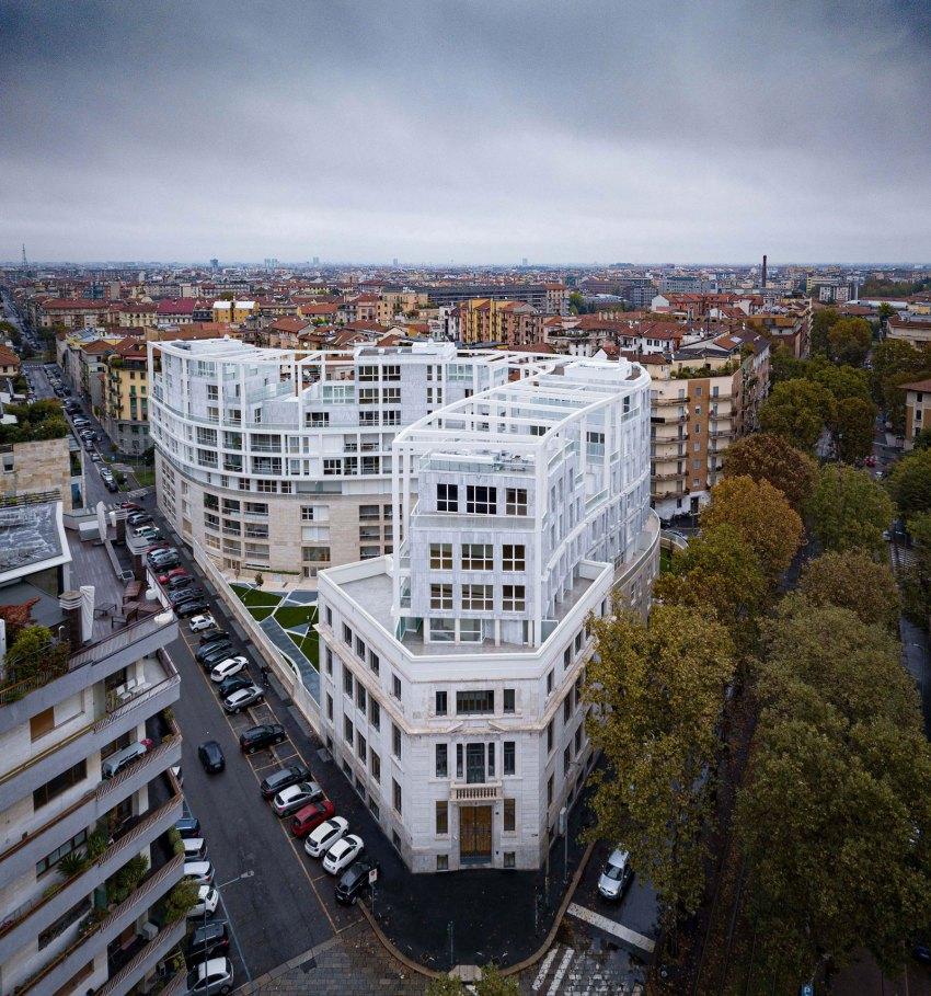 Aerial View NOBILE Floor Plan - Residenze Calo Erba in Milan / Eisenman Architects + Degli Esposti Architetti + AZstudio