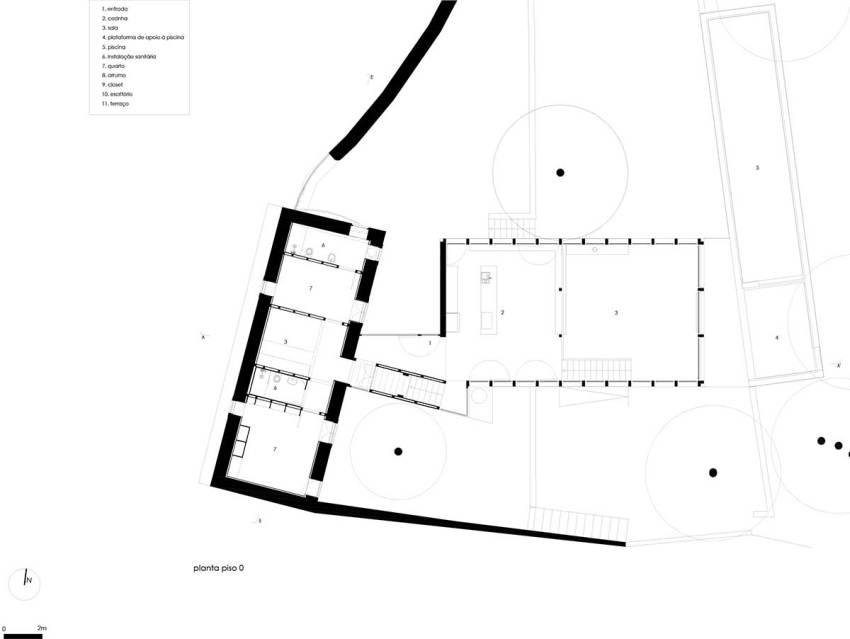 Floor Plan - Gólgota House / Floret Arquitectura