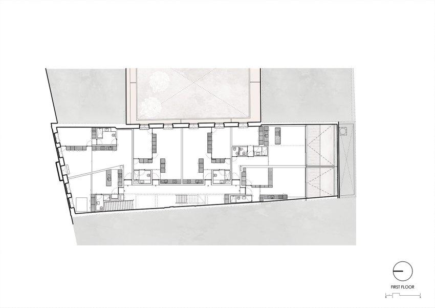 First-Floor-Plan-Edifício Fábrica das Devesas / Anarchlab, Architecture Laboratory