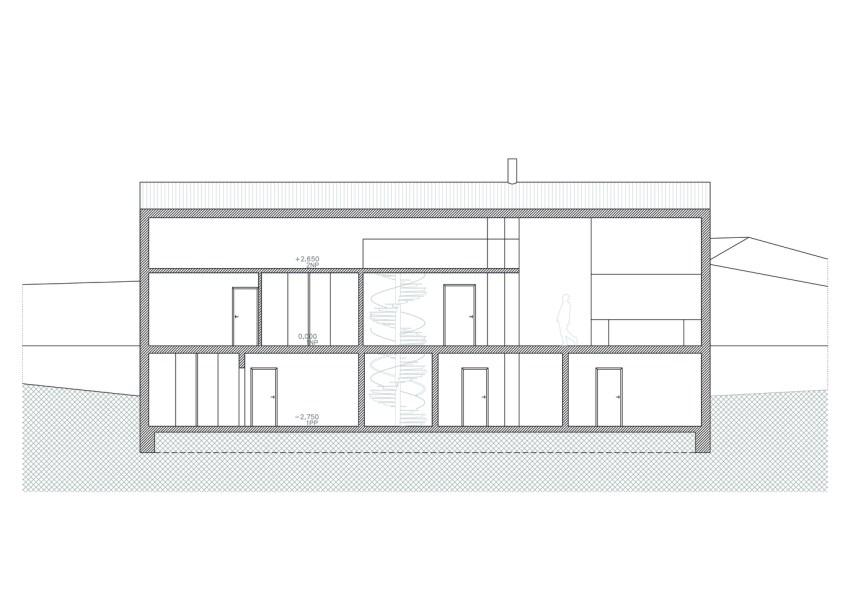 Section - House in Krkonoše / Fránek Architects