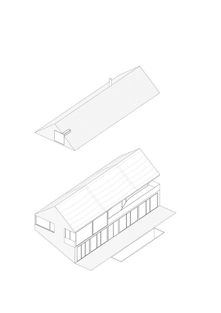 Axonometry - House in Krkonoše / Fránek Architects