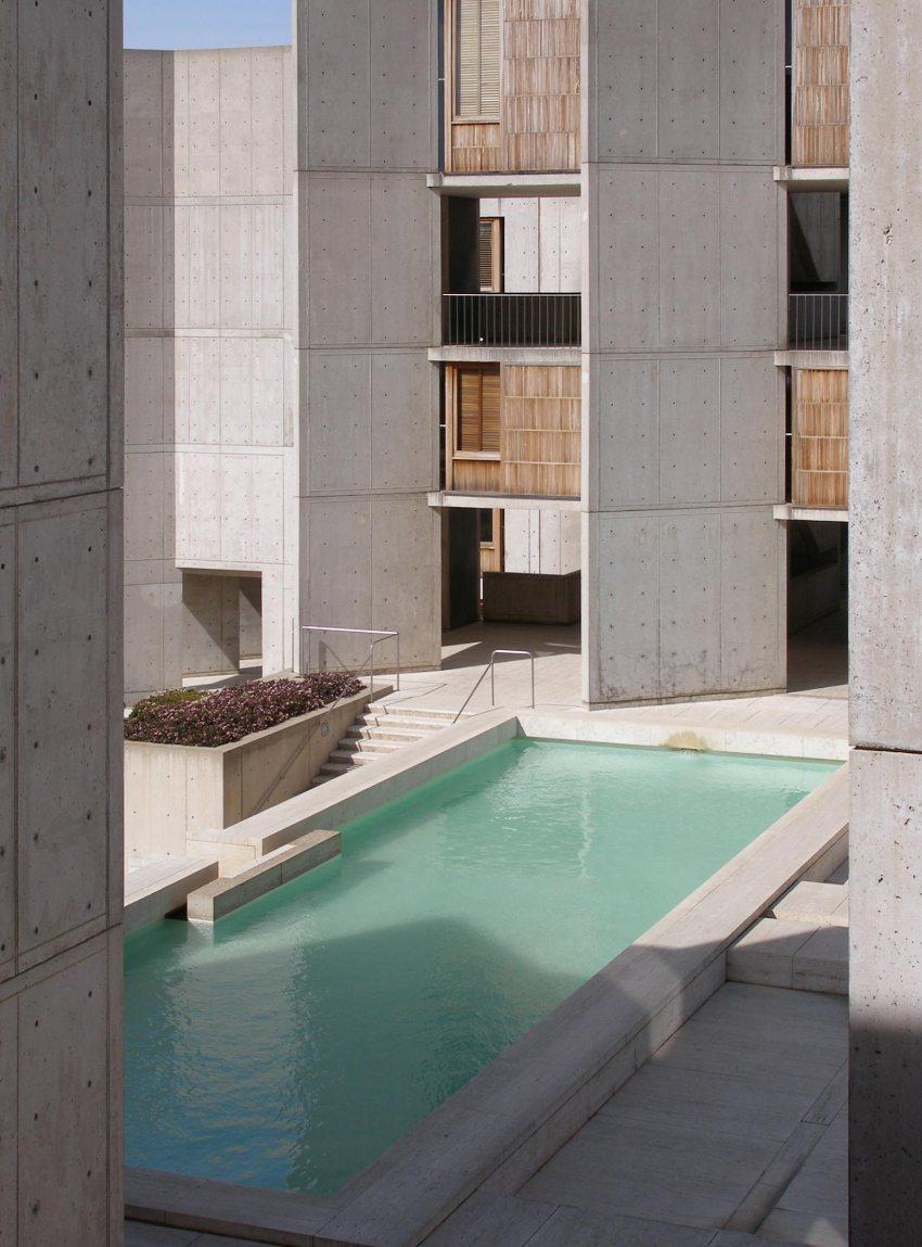 Water Feature Detail - Salk Institute for Biological Studies / Louis Kahn
