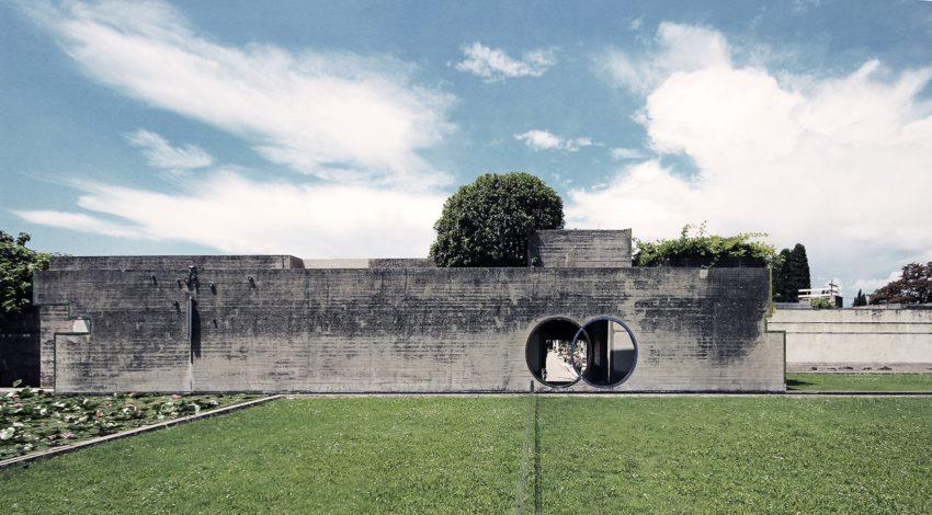 Brion Cemetery Sanctuary Carlo Scarpa ArchEyes trevor patt facade elevation