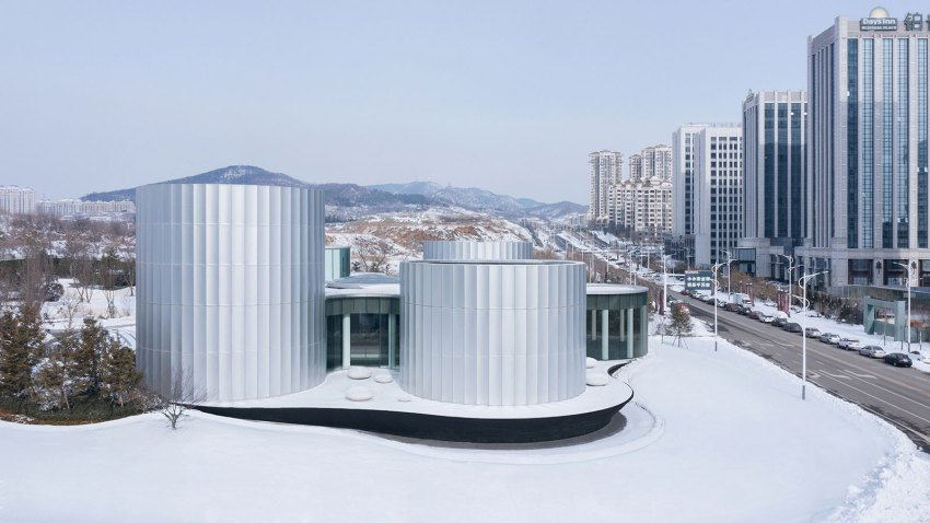Yantai Experience Centre More Design Office ARCHEYES aerial view © Zhi Xia