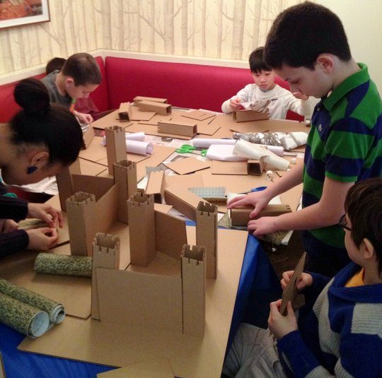 A fort for actions figures building party