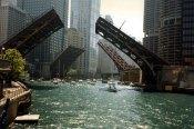 Draw bridges in Chicago