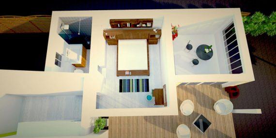 Extension plan en 3D