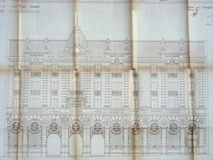Elévation de la façade 1924