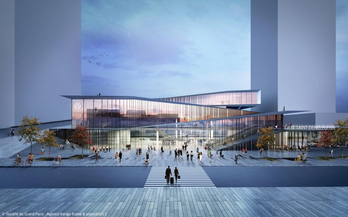 Gare de Saint-Denis Pleyel - image du concours @ Architecte Kengo Kuma