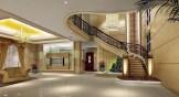 Luxury-villa-stairwell-design-rendering