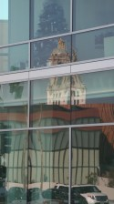 Beverly Hills City Hall - Reflection. Ruth and Rick Meghiddo, 2013. All Rights Reserved.