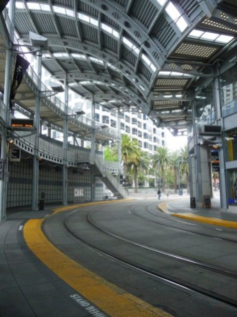 San Diego Trolley Station. Ruth and Rick Meghiddo, 2011. All Rights Reserved.