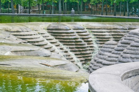 Fountain at Parc de Bercy, Paris. Copyright Ruth and Rick Meghiddo, 2010. All Rights Reserved.