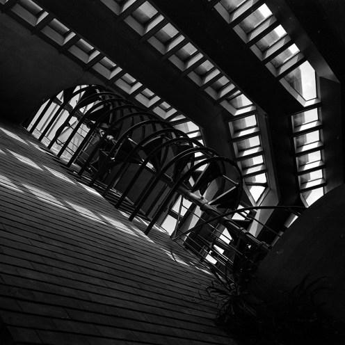 "Herbert F. Johnson House, ""Wingspread,"" Skylight, Windspread, WI, 1939. R&R Meghiddo, 1971, All Rights Reserved."