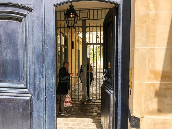 Gate at rue du Bac. Photo: © Rick Meghiddo, 2018. All Rights Reserved.